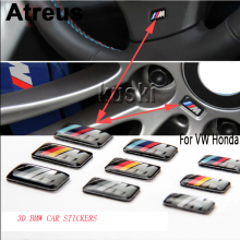 Atreus Car styling Stickers Decorative for BMW E39 E36 E60 E90 E34 E46 x5 x6 Badge Hub caps Steering wheel case Car Accessories