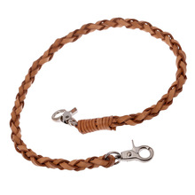 Japan and South Korea popular jewelry weaving leather pants chain men 's key chain phone chain