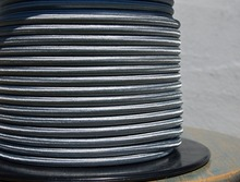 factory 10 meters Grey 2 core 0.75mm2 Textile Electrical Wire Color Braided Wire Fabric Covered Electrical Power Cord Wire Cable