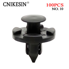 CNIKESIN 100PCS 8mm Auto Bumper Mudguard Special nylon Rivet Fastener for Nissan Livina TIIDA Sylphy Car interior fixing clips