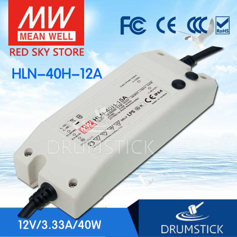 best-selling MEAN WELL HLN-40H-12A 12V 3.33A meanwell HLN-40H 12V 40W Single Output LED Driver Power Supply A type<br>