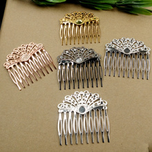 20pcs/Lot Teeth Hair Tuck Comb Hair Bobby Pin clip,Antique Bronze/Gold/Silver/Black Hairpin DIY Handmade Vintage Jewelry