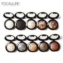 FOCALLURE 2017 10 Colors Noble Metal Diamond Pearl Eye Shadow Makeup Palette Roast Eyeshadow Cosmetics Dropshipping(China)