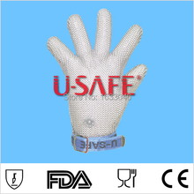 Free shipping 304L wire mesh knife protection steel metal glove stainless steel wire mesh fish metal glove(China)