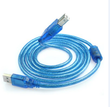 USB 2.0 Extension Print Cable 30cm 1.5M 3M 5M 10M OHFC Copper Transparent Blue Wholesale Extended USB Cable for Printer HDD(China)
