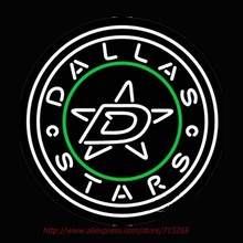 Dallas Stars Secondary Logo Neon Sign Flashlight Neon Bulbs Glass Tubes Handcrafted Recreation Room Design Iconic Sign VD24x24(China)