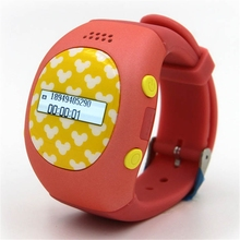 Cute RWATCH R9 0.88 inch Children GPS Smartwatch Phone SOS Button Family Numbers Safe Area Two-way Communication Clock