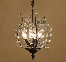 American style pendant lights restaurant entrance crystal European French luxury retro lamps hanging bar aisle lamps