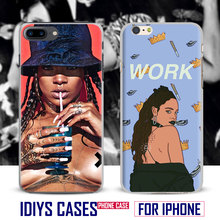 For Apple iPhone 7PLUS 7 6SPLUS 6S 6PLUS 6 5 5S SE 4S 4 Rihanna Pop Singer Popular Star Coque Phone Case Cover Shell Phone Bag