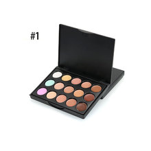 Professional 15 Color Concealer Face Primer Cream Contour Palette Make Up Facial Contouring Palette Makeup Base Brush Cosmetic