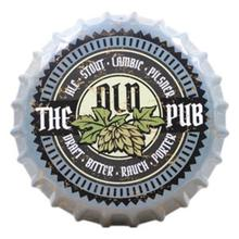 "Tin Sign ""OLD PUB"" Creative Vintage Iron Restaurant Bar KTV Decorative Wall Hanging Ornaments Art Deco Beer Bottle 35x35 CM"