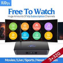 Best IPTV Europe 3G 32G S912 X92 Android 6.0 Smart TV Box IUDTV Code 2000 Channels Subscription Arabic French Top - Amazing Shop store