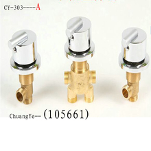 Copper split bathtub faucet cold and hot water switch valve cylinder faucet accessories