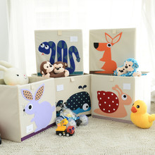 Children's toy storage box Baby cartoon collapsible finishing box Oxford cloth clothes storage box