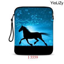 horse print 10.1 tablet case 9.7 inch Universal laptop Protective skin notebook sleeve pouch Cover For ipad 2 mini case IP-5559