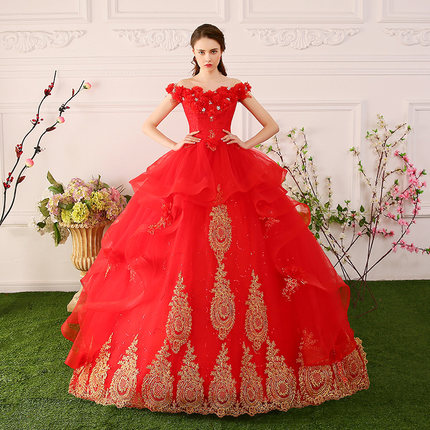 red luxury flowers beading medieval dress sissi princess Medieval Renaissance Gown queen costume Victorian Belle ball