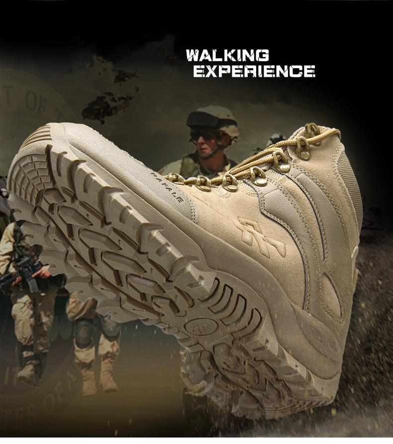 Brand Men's Boots Military boot Chukka Ankle Bot Tactical Big Size Army Male Shoes Safety Combat Mens Motocycle Boots (4)