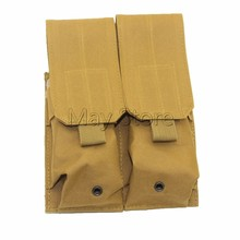 Coyote/Brown/Tan/Sand Army Utility Double Large Magazine Clip Pouch Can be add on Tactiacl Vest Double M4 Mag Pouch(China)