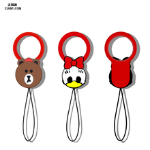 Cartoon silicone cell phone rope short hang straps Lariat Lanyard camera phone accessories Joker general cute 10cm
