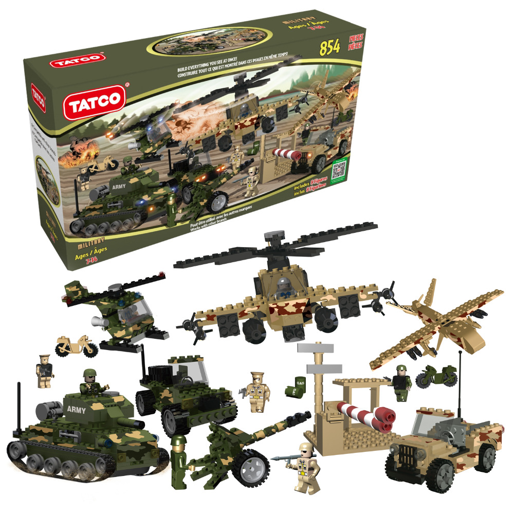 854Pcs/Set Building Blocks Military Army Constructor set Educational Toys Classic Toy High Quality Guaranteed Boys Girls Gifts<br>