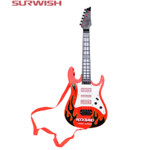 Surwish Rock Band Music Electric Guitar 4 Strings Kids Musical Instruments Educational Toy(China)
