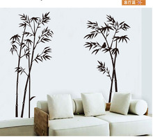 New style DIY Art Black Bamboo Wall Stickers Mural Wall Sticker For Home Office Bedroom Wall Stickers Decor removable
