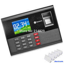 with 20pcs ID cards AC121 biometric fingerprint time attendance system employee time clock machine for access control system(China)