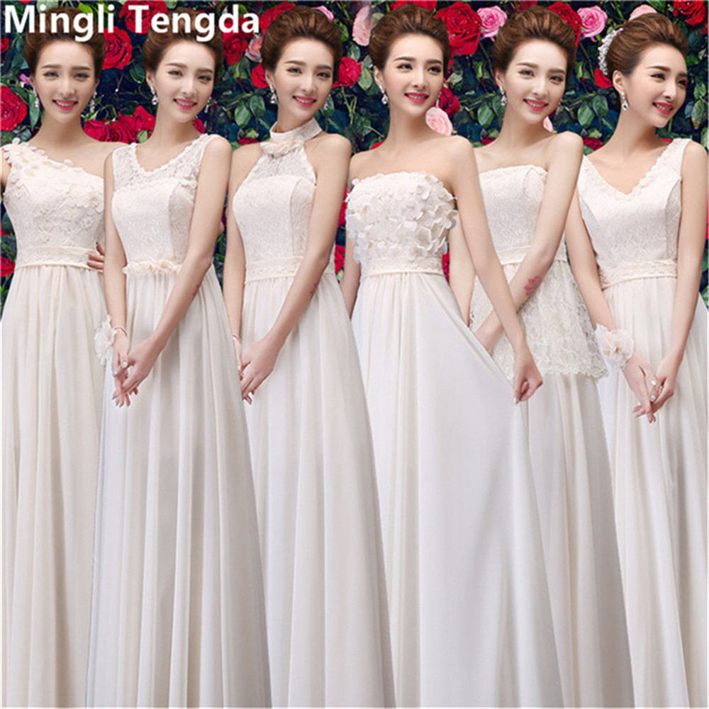 Champagne Bridesmaid Dresses Chiffon
