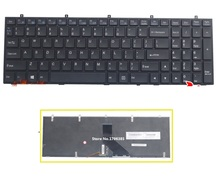 SSEA New US Keyboard for Clevo W350 W350ST W350SK W670 W370 W370ST laptop keyboard With backlight free shipping