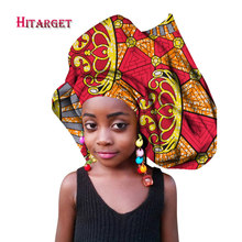 Multi-color Headwear Headband Bazin Head Decorations Wrap Tie Scarf High Quality African Hair Head Scarf for Girl or Women WYB72(China)