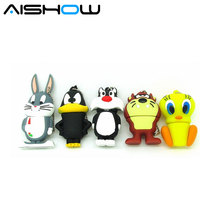 Hot selling lovely Tom Cat Duck Daffy Duck 4GB 8GB 16GB 32GB 64GB USB Flash 2.0 Memory Stick S50 S70 S549 Free shipping