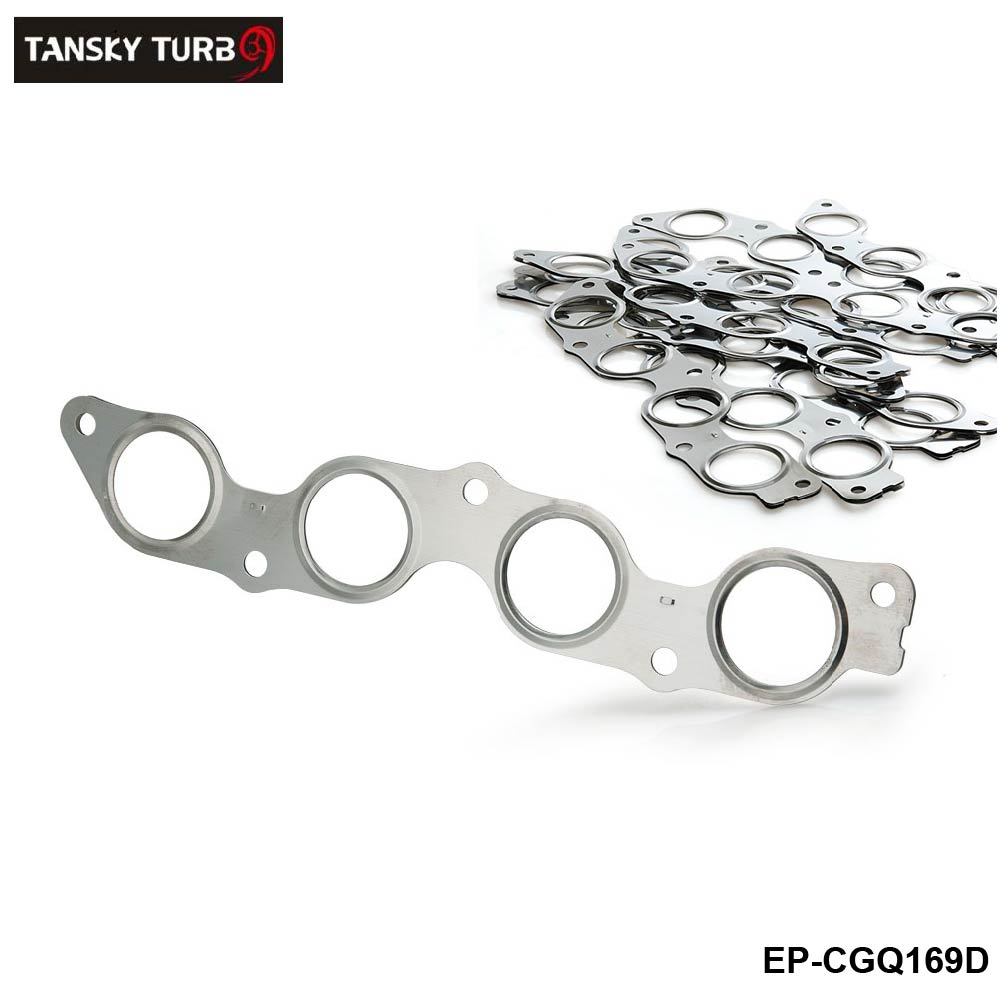 TANSKY - 10Pcs/Lot For Toyota 1.5L 1NZ-FE 1NZ-FXE 2000-2004 Exhaust Manifold Gasket Stainless Steel EP-CGQ169D