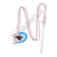 New styles Swirl Heart Necklace Carolina Panthers Link Chain jewelry