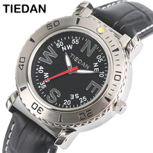 TIEDAN Outdoor Watch Compass Bracelet Special Design Quartz Wristwatch Leather Military Army Male Clock Sport Luxury Relogio