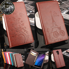 Xiaomi Redmi 4 Pro Case Luxury Flower Tower Embossing Leather wallet flip protective cover for Redmi 4 Pro Prime / Redmi 4