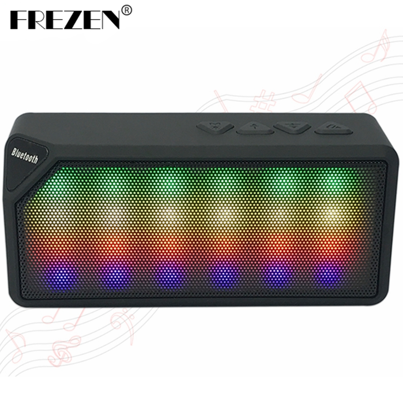 FREZEN Wireless LED Mini X3S Bluetooth Speakers TF USB FM Jambox Style Portable Music Sound Box Subwoofer Loudspeakers For phone(China (Mainland))