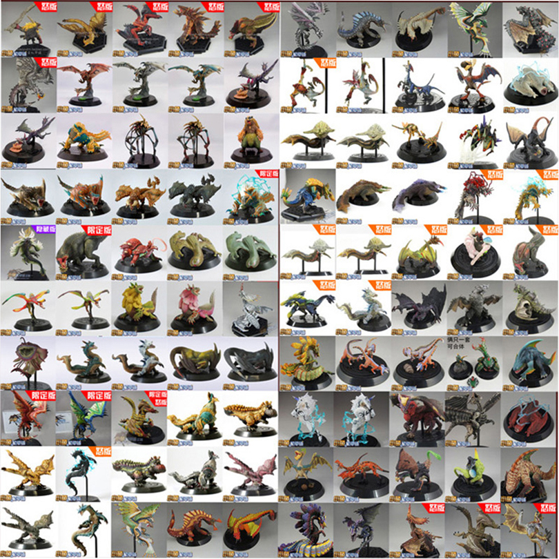 Random 5 Different Style Japanese Anime Monster Hunter PVC Models Super Cool Animal Dragon Action Figure Toys Best Boy Gift(China)
