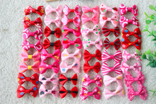 Choose Color 50Pcs in Pairs Pet Hair Bows Clip Boy and Girl Color Pet Dog clips Cute Dog Hair Bows Grooming Product(China)