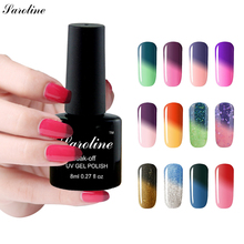 Saroline Professional Change Cheap Gel Varnish Temperature Color Chameleon UV LED Nail Gel Polish Soak Off Long Lasting