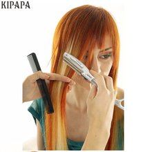 Ultrasonic Hot Vibrating Razor for Hair Cut Hair Beauty Salon Styling Avoid Split Ends Super Razor Blades(China)