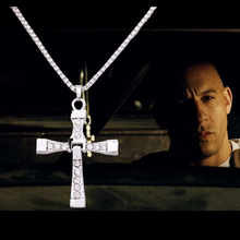 2017 Hot Sale Fast Furious 7 Cross Pendants Necklaces Dominic Toretto Classic Cross Men Jewelry