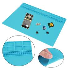 Electronic Silicone Pad Heat Insulation Working Mat Soldering Repair Station Heat Resistance Maintenance Platform 350 X 250 mm(China)