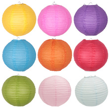 1pc 10''(25cm) Round Chinese Paper Lantern Wedding Party Supplies Home Decor Wedding Favors Holiday Supplies(China)