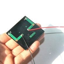 Wholesale 500PCS/Lot Polycrystalline Min Solar Cell With Cable 0.25W 5V Epoxy Solar Panel DIY Small Solar Charger Education Kits(China)
