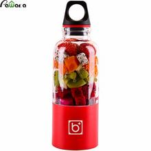 500ml Portable Juicer Cup USB Rechargeable Electric Automatic Bingo Vegetables Fruit Juice Maker Cup Blender Mixer Bottle(China)