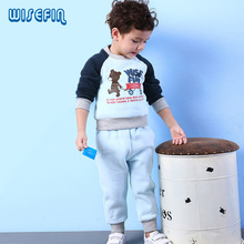 WISEFIN New Spring Fashion Baby Cartoon Clothing Sets Jacket + Trousers Suit for Infant Chilren Boys Cotton Pullover Clothes(China)
