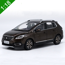 1/18 Peugeot 3008 2016 Brown SUV Alloy Diecast Metal Car Model Toys For Baby Christmas Gifts Toys Collection Free Shipping(China)