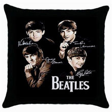 "Hot The Beatles Throw Pillow Case Classic The Beatles Cushion Cover Collectable Photo Home Decor Gifts Car Cushion 18"" Two Sides(China)"