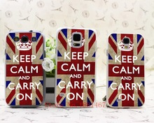 509M- VINTAGE SLIM  keep calm and carry Hrad Style Case Cover for Samsung Galaxy S5 S4 S3 I9600 I9500 I9300 1PC