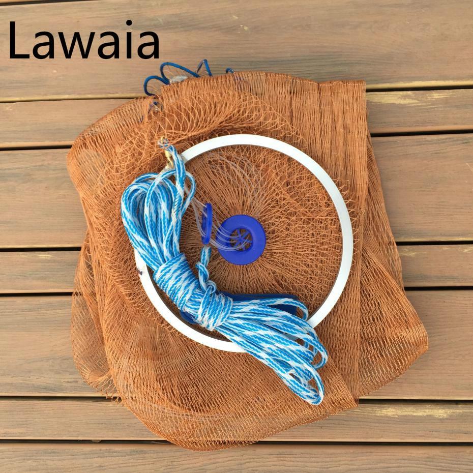Lawaia 2.4-4.2m Fishing Net 3m Fishing Net,cheapest China Folding Fly Fishing Net Weighing 2kg Fly Single Gill Net<br>
